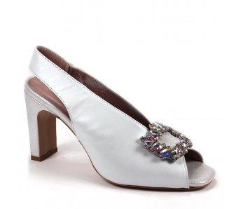 Elegantné sandále MFS20480 WHITE