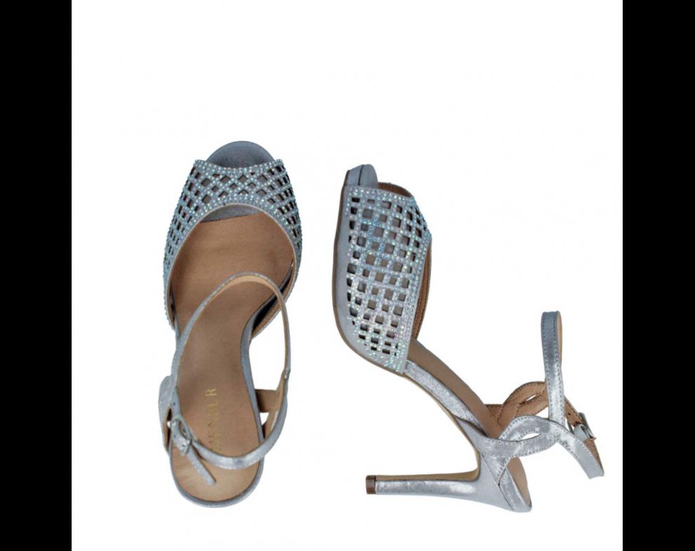 Spoločenské sandále MB20741 PLATA/SILVER
