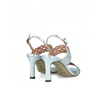 Spoločenské sandále MB21618 SILVER/PLATE