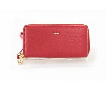 Peňaženka GIUDI G6833LGPCRFCOL-LN Rosso