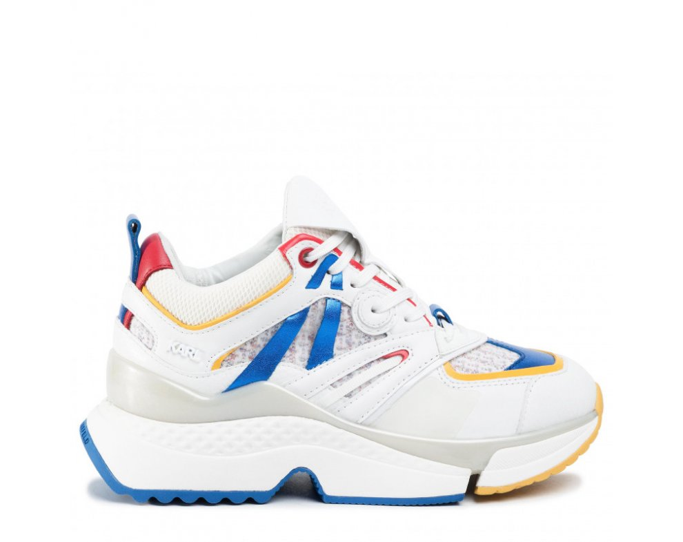 Sneakersy KL61637 41M WHITE/MULTI