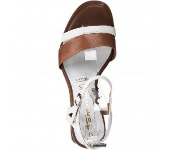 Sandále 1-1-28033-24 144 WHITE/COGNAC