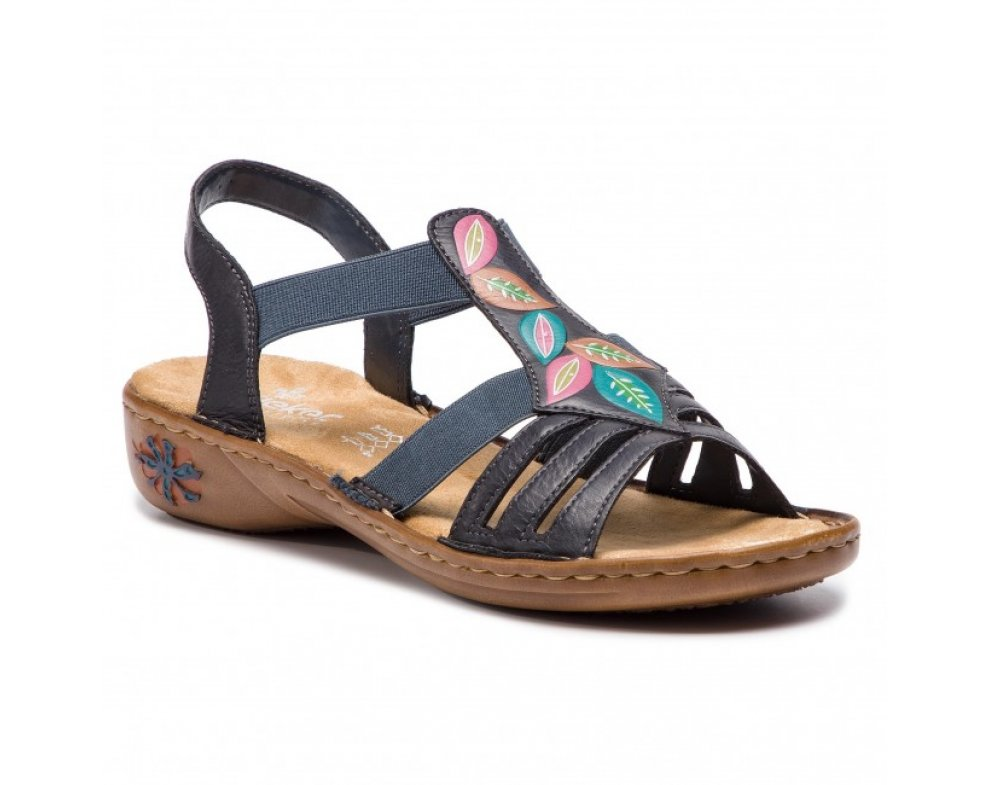 Sandále RIEKER 60171-14 BLUE