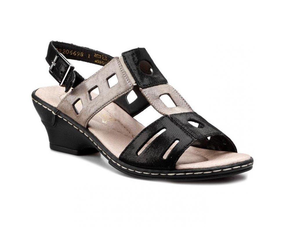 Sandále RIEKER 62169-00 BLACK