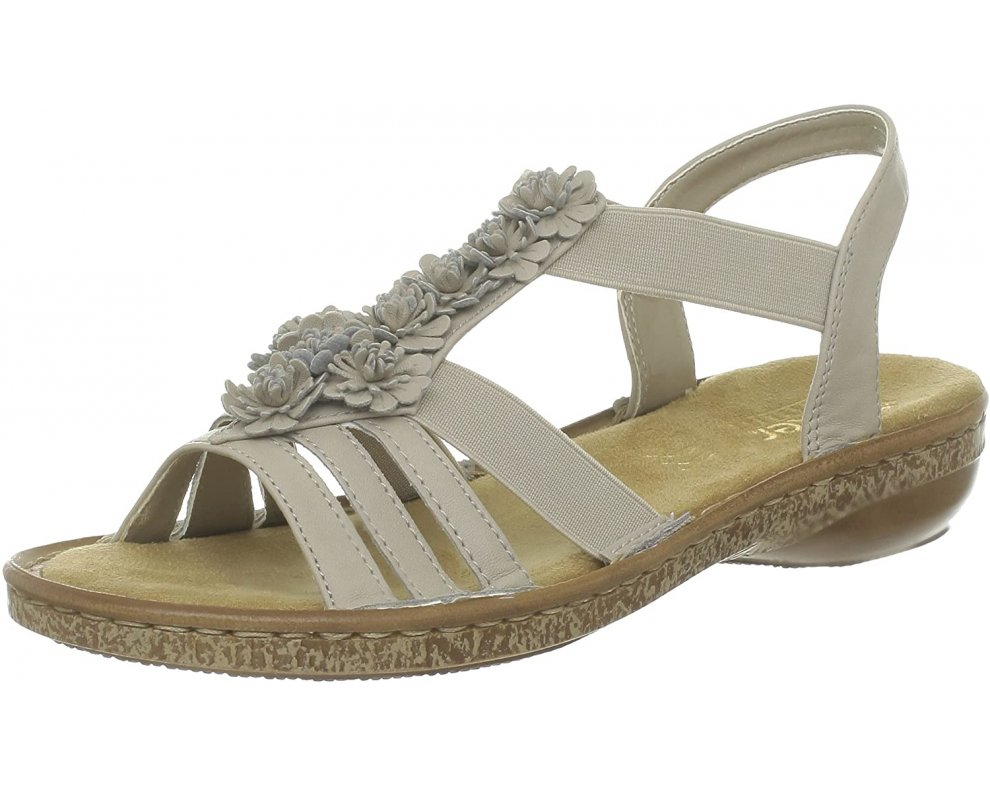 Sandále RIEKER 62860-60 BÉŽOVÁ