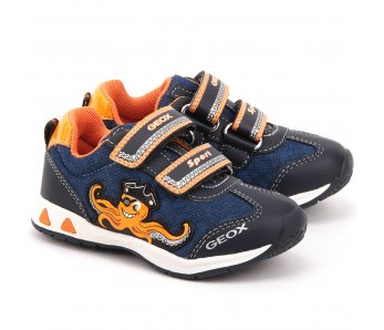 Topánky GEOX B52S9C 01450 C0820 navy/orange