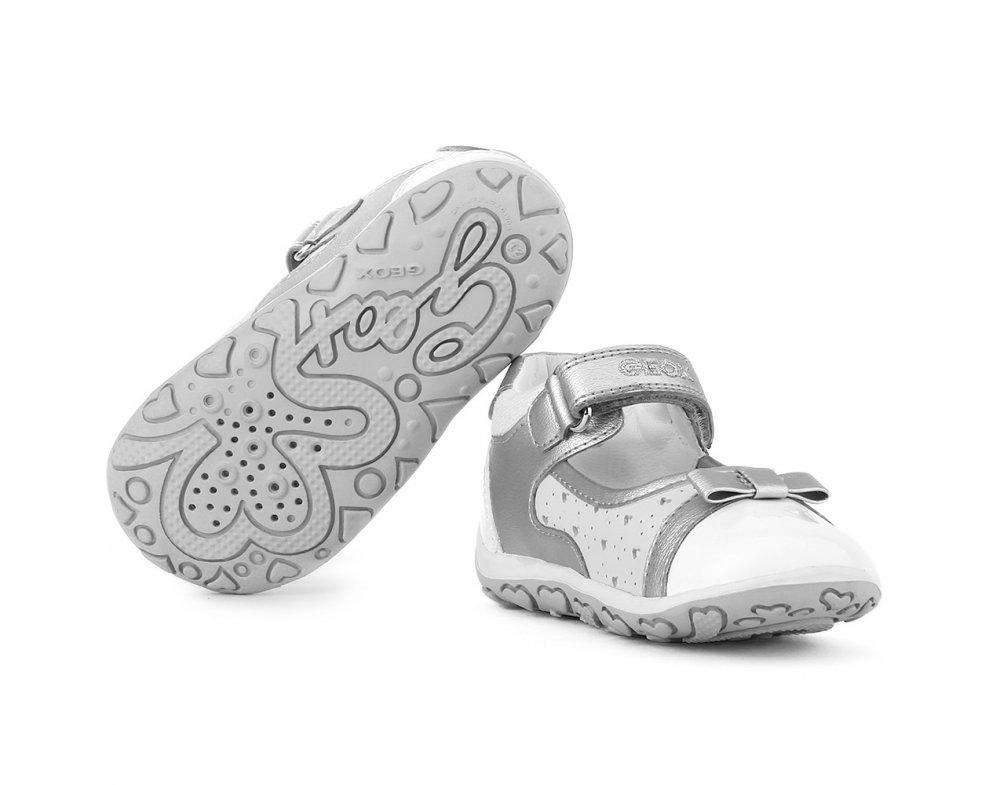 Topánky GEOX B52E6A 05443 C0434 silver/white