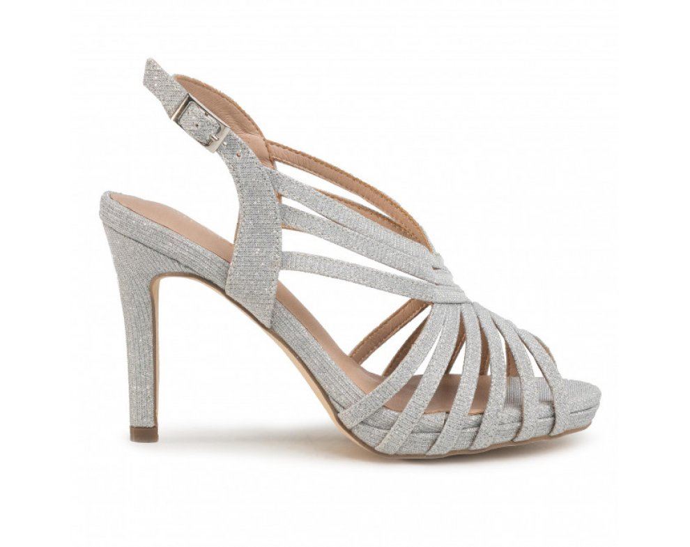 Spoločenské sandále MB20725 0009 PLATA/SILVER