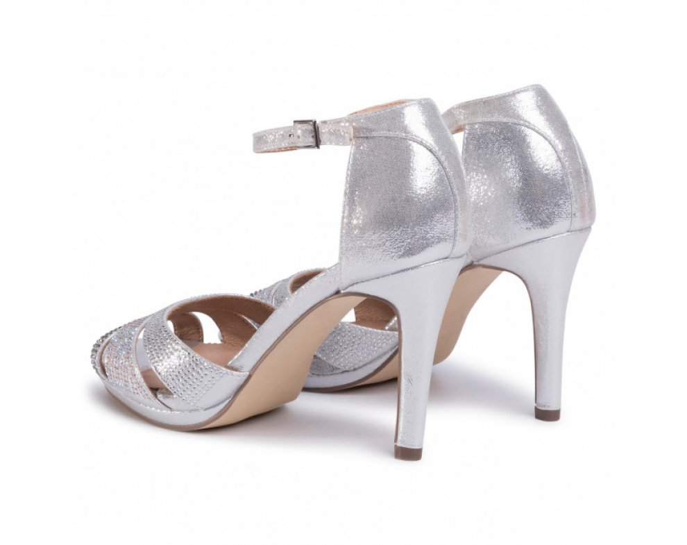 Spoločenské sandále MB21221 0009 PLATA/SILVER