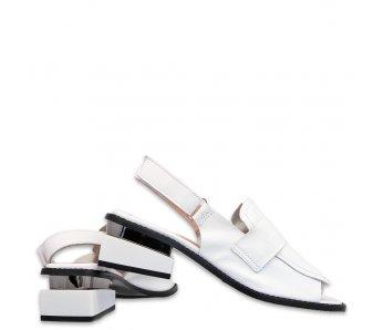 Sandále AQ20115 WHITE/BLACK