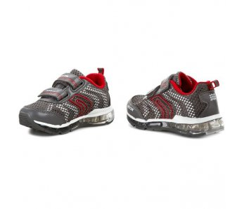 Topánky GEOX J5244A 014CE C0051 grey/red