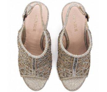 Spoločenské sandále MB20217 PLATA/SILVER