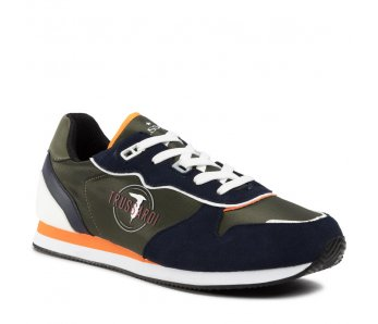 Pánske sneakersy TRUSSARDI TR77A00225 MILITARY/BLUE/YELLOW