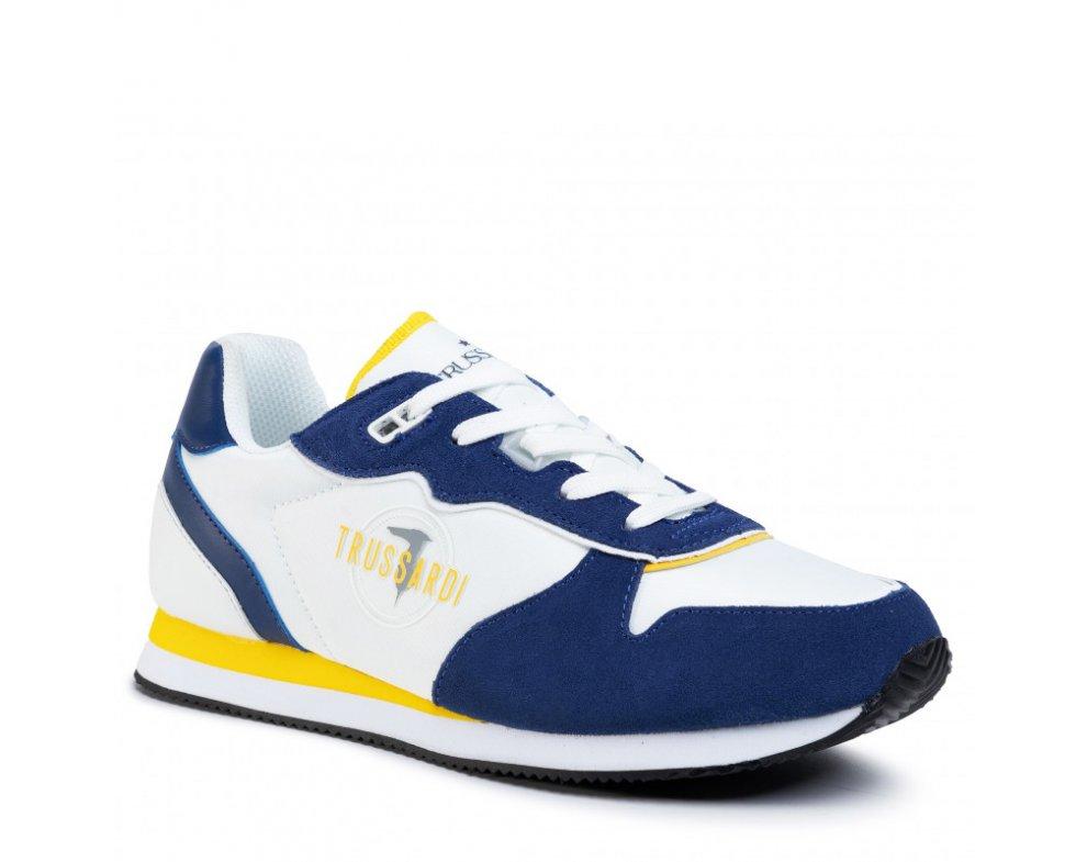 Pánske sneakersy TRUSSARDI TR77A00225 WHITE/BLUE/YELLOW