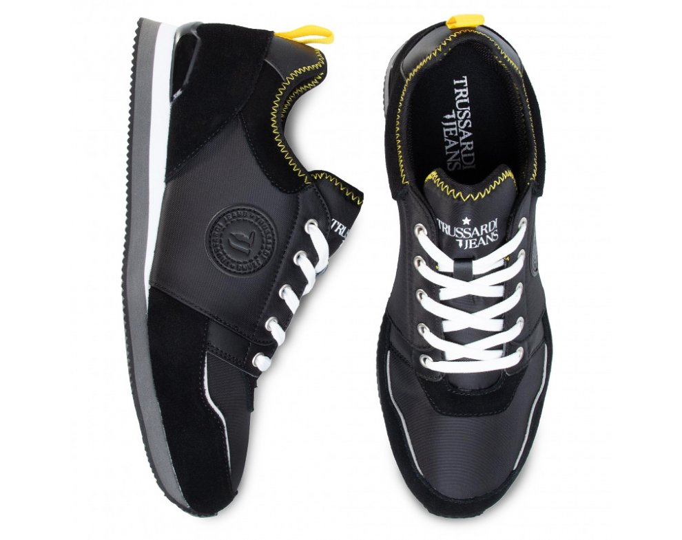 Pánske sneakersy TR77A00245 BLACK/YELLOW