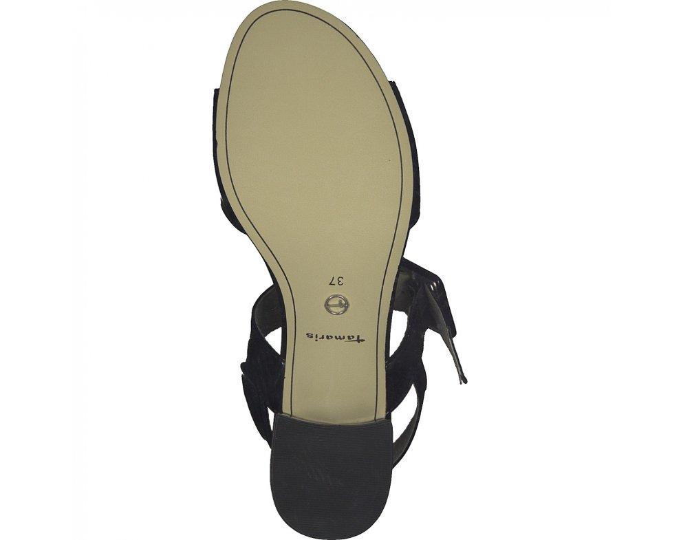 Sandále Tamaris 1-1-28211-24 018 BLACK PATENT