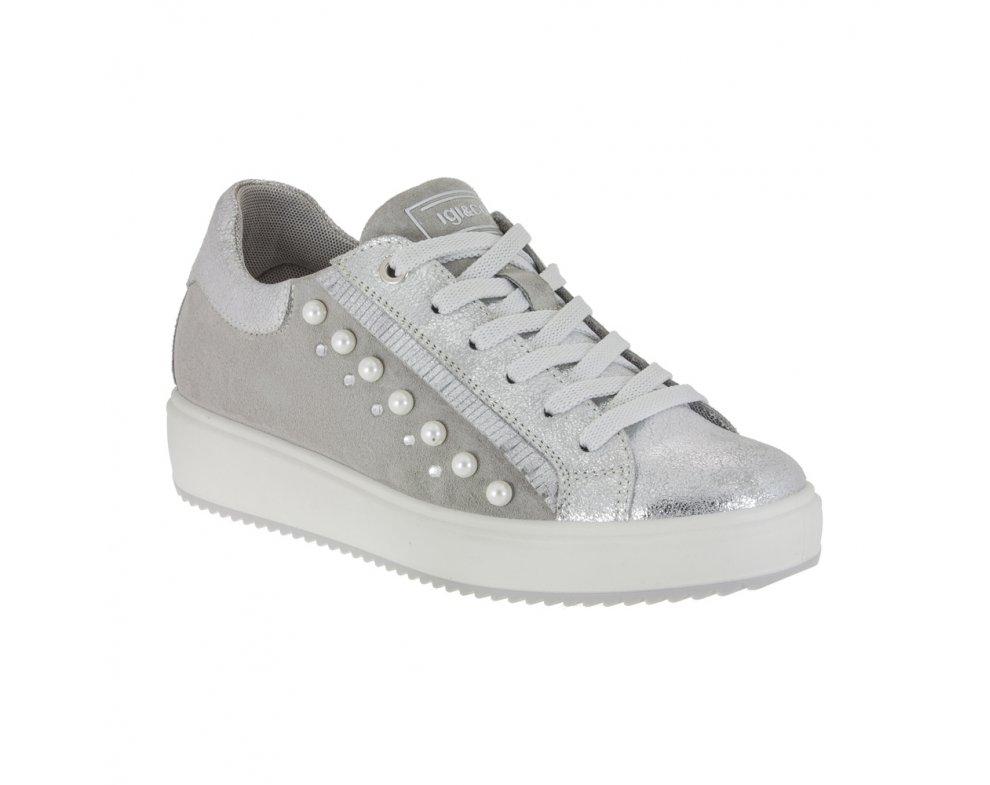 Sneakersy IGI&CO; IGI1148722 SCAMOS.NU.METAL/ARGE