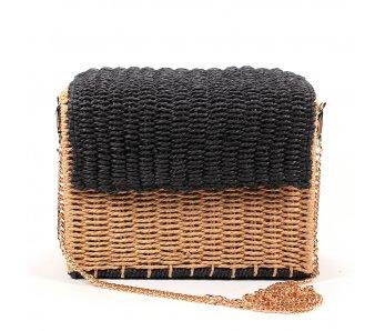 Pletená kabelka AMN-BO1101/A BLACK
