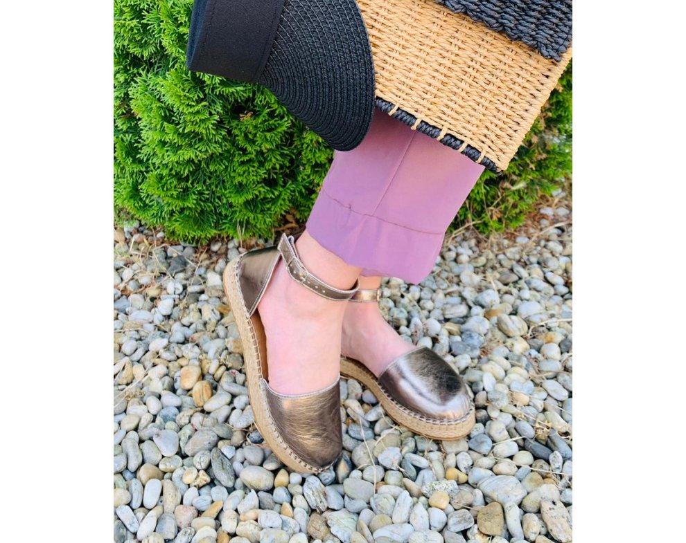 Sandále AL621 PLATINA