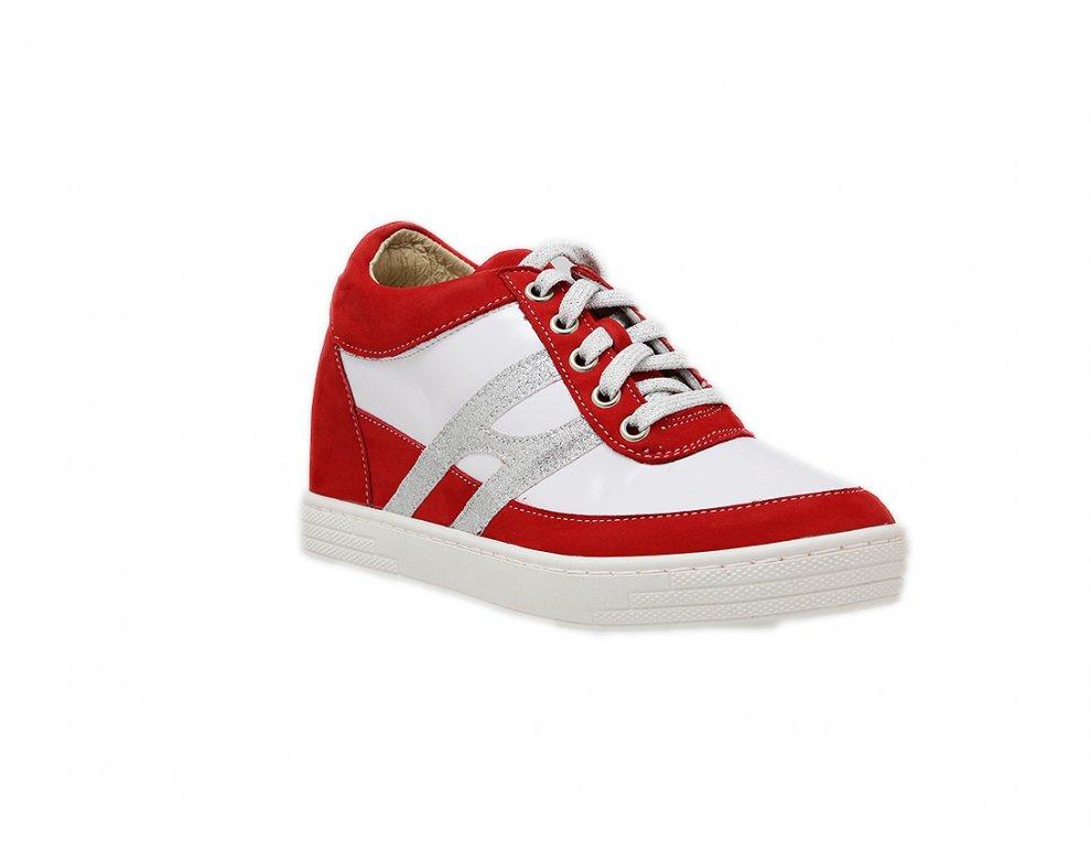 Sneakersy 2D1.00.5807/BIELA/ČERVENÁ