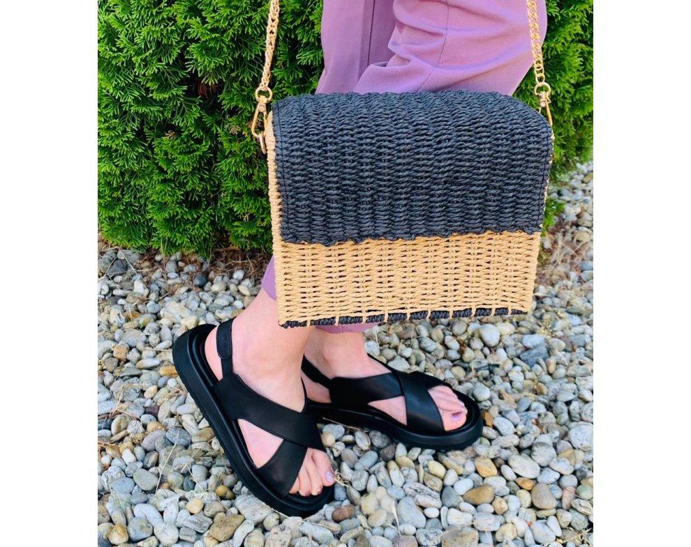 Sandále MO153-16 ČIERNA