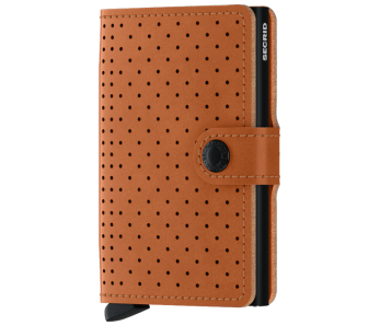 SECRID Miniwallet Preforated Cognac