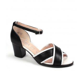 Dámske sandále 9J78-1 BIANCO/NERO