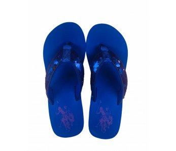 Dámske šľapky U.S. POLO ASSN. TANSY1 PAILETTES/BLUE