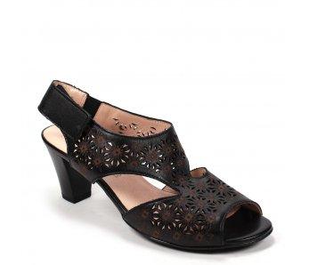 Dámske sandále 9J65-1 NERO