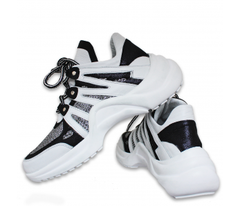 Sneakersy DTE2013 WHITE/BLACK
