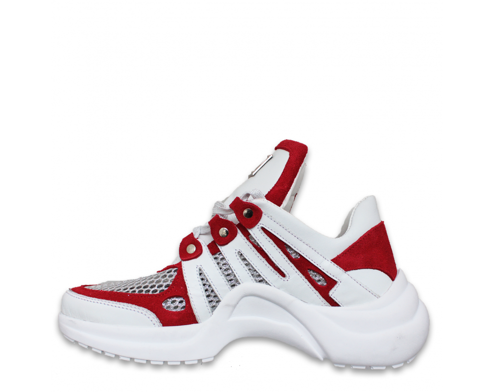Sneakersy DTE2013 WHITE/RED