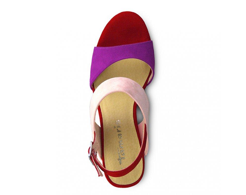 Sandále 1-1-28354-22 583 CHERRY COMB