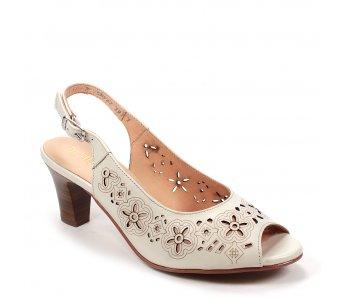 Elegantné sandále 9K56-2 OFF WHITE