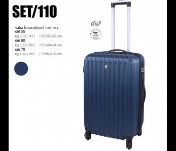 Cestovný kufor SET110 BLUE