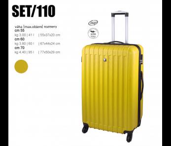 Cestovný kufor SET110 GIALLO