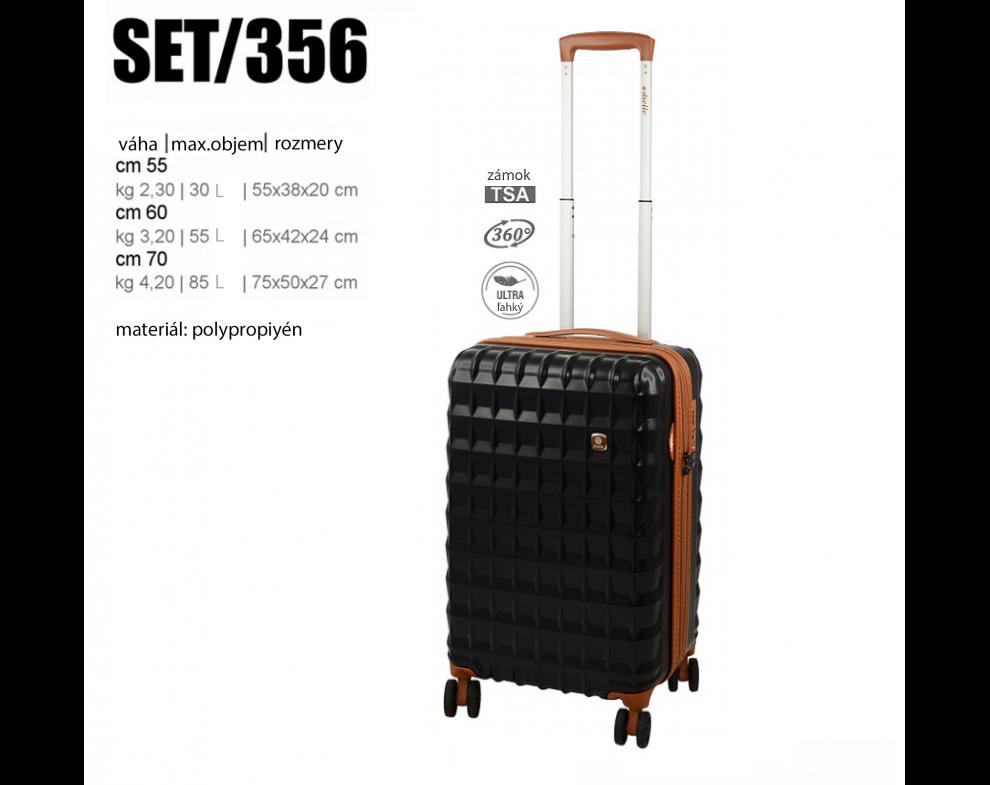 Cestovný kufor SET356/NERO