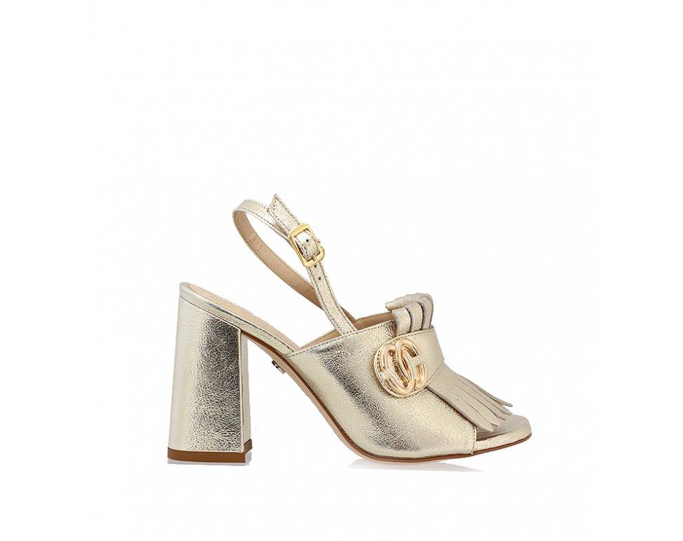 Sandále SoloFemme SF60817-13-H29/000-07-00 PLATINA