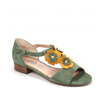 Dámske sandále SOREL 9K57-3 BASILICO/YELLOW