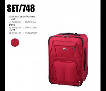 Cestovný kufor SET748 ČERVENÁ