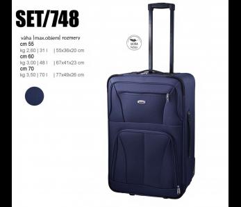 Cestovný kufor SET748/BLU