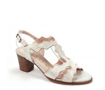 Dámske sandále MARIT 9J77-2 GOLD/BIANCO