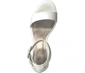 Sandále 1-1-28018-22 123 WHITE PATENT