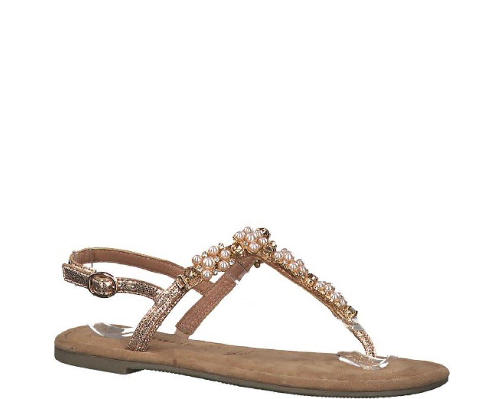 Sandále 1-1-28152-22 952 ROSE METALLIC