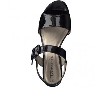 Sandále 1-1-28211-22 018 BLACK PATENT