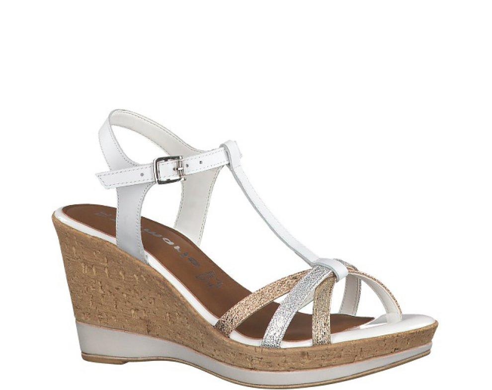Sandále 1-1-28347-22 197 WHITE COMB