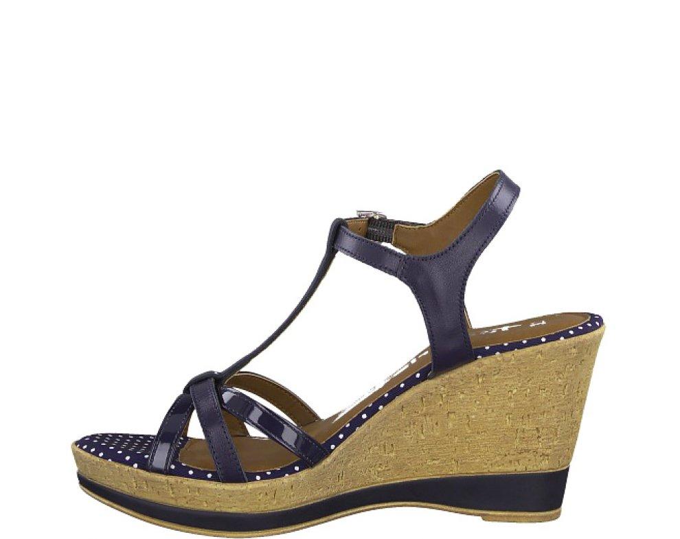 Sandále 1-1-28347-22 891 NAVY DOTS