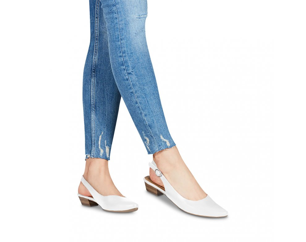 Sandále 1-1-29400-22 117 WHITE LEATHER