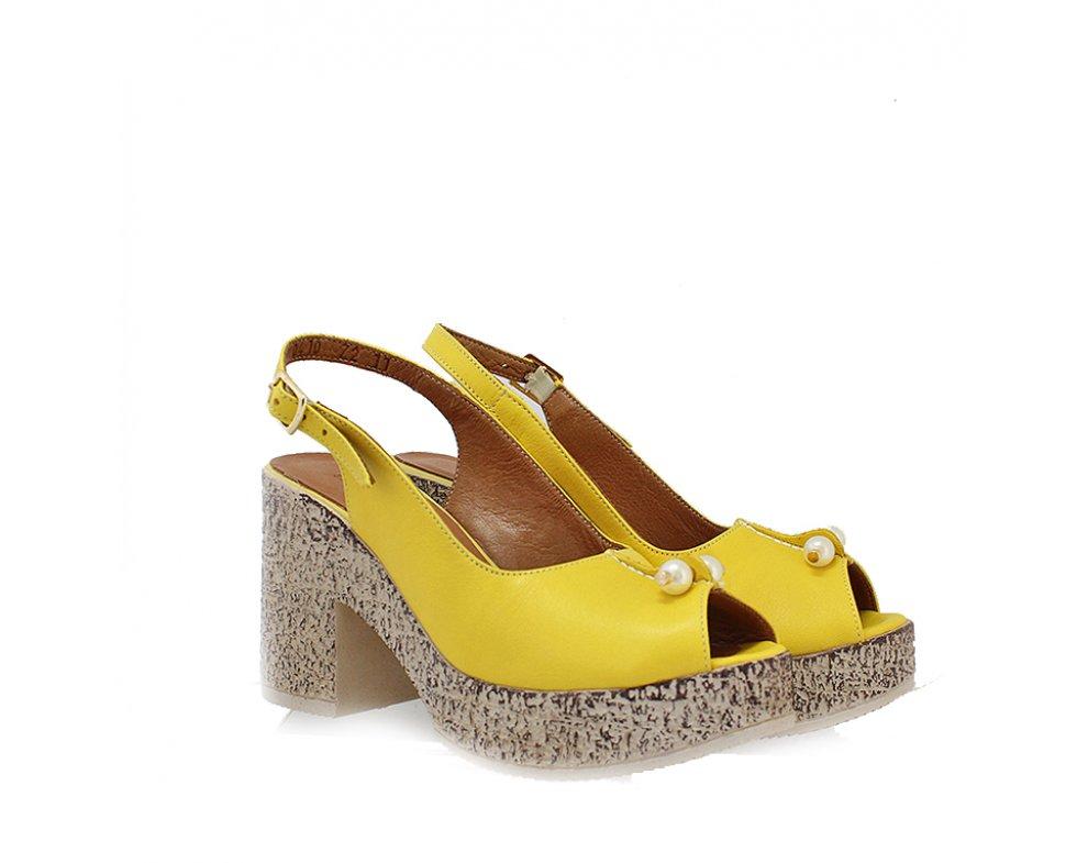 Sandále LP0410-72-18Y YELLOW LEATHER