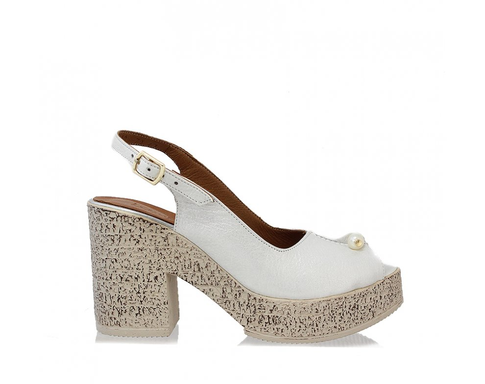 Sandále LP0410-66-18Y WHITE SATIN