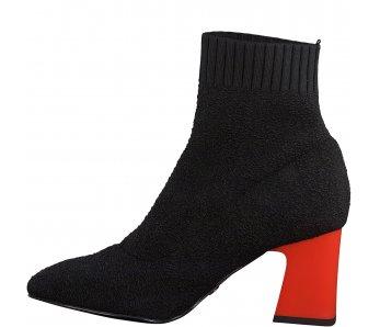 Ponožkové kotníky Tamaris 1-1-25987-25 033 BLACK/LIPSTICK